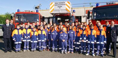 Gruppenfoto Jugendfeuerwehr Verbandsgemeinde Wissen