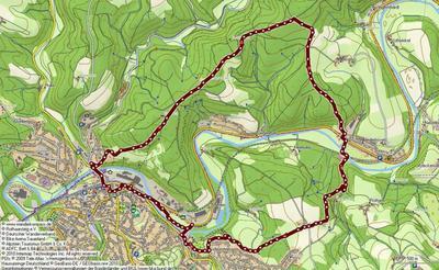 Sieghöhen und Kerbtäler - Botanischer Weg - Tour 2
