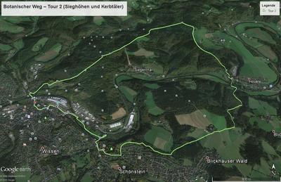 Botanischer Weg - Tour 2 (Sieghöhen und Kerbtäler)
