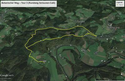 Botanischer Weg - Tour 3 (Rundweg Scheunen-Café)