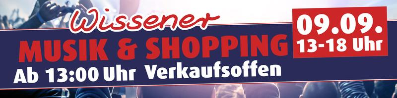 Banner Musik & Shopping