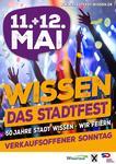 Plakat Stadtfest Wissen