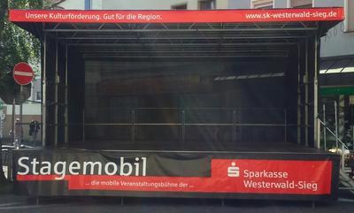 Stagemobil mit neuer Werbung