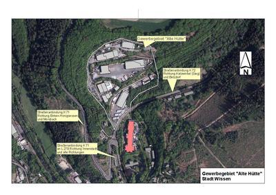 Luftbild Gewerbegebiet Alte Hütte