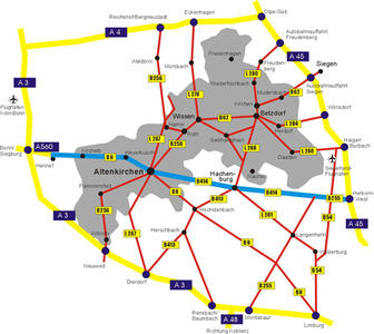 Verkehrsgrafik Landkreis Altenkirchen