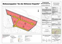 Bebauungsplan An der Birkener Kapelle - Planzeichnung