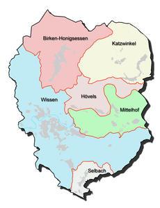Kartenumriss der Verbandsgemeinde Wissen