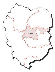 Kartenumriss der Ortsgemeinde Hövels